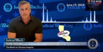 How Judicial Watch Is Setting Up Trump's Dangerous Cover Story For 2020