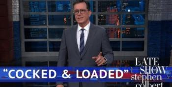Stephen Colbert Says He's Not Used To Saying Trump 'Did The Right Thing'