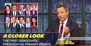 Seth Meyers Takes A Closer Look At The Democratic Candidates Debate