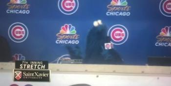 Cookie Monster At The Seventh Inning Stretch!