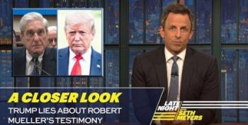 Seth Meyers Takes 'A Closer Look' At Trump's Lies About Mueller Testimony