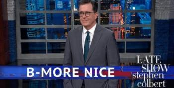 God Bless America -- Except Baltimore! Stephen Colbert Explains