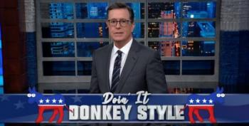 Colbert Claps For Hickenlooper
