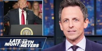Seth Meyers 'Covers' Trump's Ohio Rally