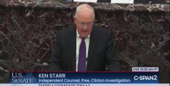 Mass Flashbacks On Twitter As Ken 'Blue Dress' Starr Bemoans 'Age Of Impeachment'