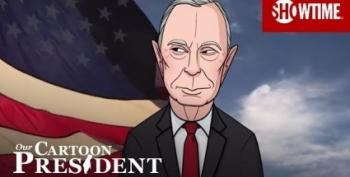 Cartoon Trump's Big Game Commercial Hijacked