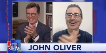 Stephen Colbert And John Oliver, Together (Apart) Again!