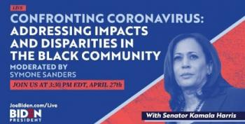 Kamala Harris Holds Town Hall With African American Leaders On COVID-19