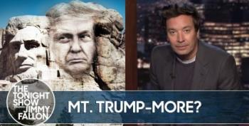Late Night Comedians React To 'Mount Trumpmore'