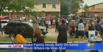 Family Of Jacob Blake Hosts Block Party, Voter Drive, Drowns Out Trump Visit
