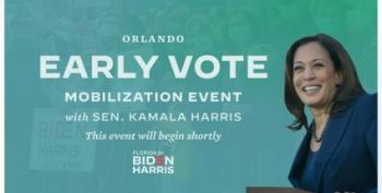 WATCH LIVE:  Kamala Harris At Early Voting Drive In Florida