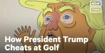 Animation:  How Trump Cheats At Golf