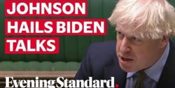 Oops.  Boris Johnson Calls Trump 'Former President'; Praises Biden
