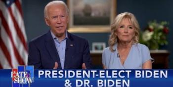 Stephen Colbert Welcomes Joe And Jill Biden To His Show And It's Heartwarming