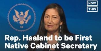 Republicans Mad That Deb Haaland Protested Fracking? Tough