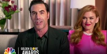 Baron Cohen Thanks 'Co-Star' Rudy Giuliani At Golden Globes