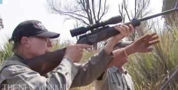 Watch NRA's Wayne LaPierre Try To Kill Helpless Elephant At Point-Blank Range