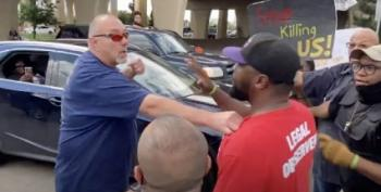WATCH: Angry White Man Threatens Protesters, Cops Let Him Walk