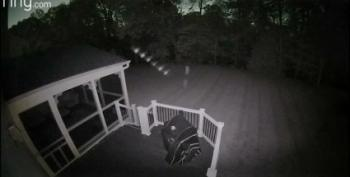 What's That Row Of Orbs On This Maryland Home's Security Camera?