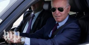 Right Wing Idiot Charges Biden Didn't 'Actually' Drive Truck