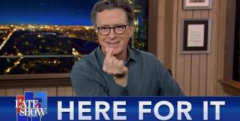 Colbert Celebrates: Bezos Now Owns 'The Apprentice' Outtakes