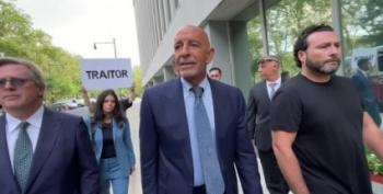 Tom Barrack Jeered As He Makes His Way To Brooklyn Courthouse