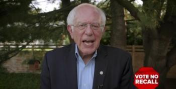 Bernie Sanders: 'Vote No' In CA-GOP Recall On September 14