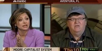 Michael Moore Schools Maria Bartiromo On Capitalism