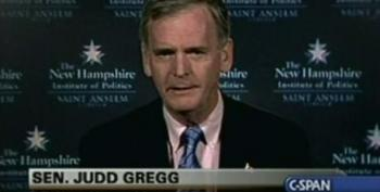 Judd Gregg: Deficit Worst Problem Behind Terrorism And WMD's--But No New Taxes To Fix It