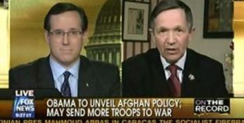 Dennis Kucinich Vs Rick Santorum On Afghanistan