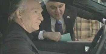 Bill Maher Runs Over George W Bush On Jay Leno's Green Car Challenge