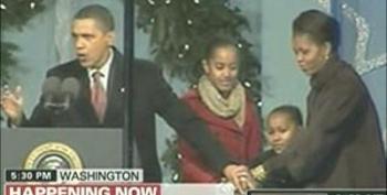 President Obama & Family Lights National Christmas Tree