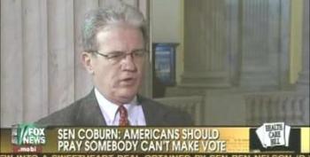 "Senator Coburn Explains His ""Pray Someone Can't Make The Vote"" Comment"