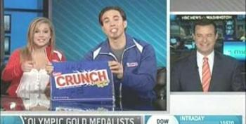 Shuster Gives Olympic Medalist Shawn Johnson & Apolo Ohno Grief Over Chocolate Sponsor