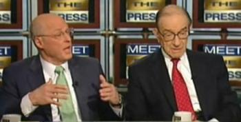 David Gregory Thinks We Should Be Taking Advice From Paulson And Greenspan On The Economy