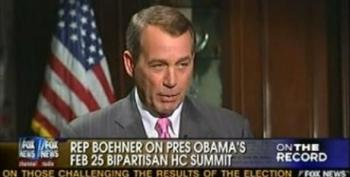"""John Boehner Worried He's Going To Walk Into A """"Setup"""" If He Comes To Health Care Summit"""
