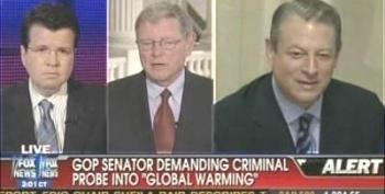 "Senator Inhofe Wants Justice Dept To Investigate ""Global Warming Hoax"""