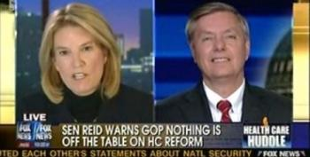 """Lindsey Graham Is Mad That Harry Reid Said The GOP Should """"Stop Crying"""" About Reconciliation"""