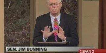 Senator Bunning Denies The Unemployed Again! He Blames Senator Reid