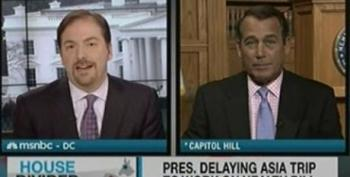 Chuck Todd Can't Bother To Challenge John Boehner On Lies Or Ethics Hypocrisy