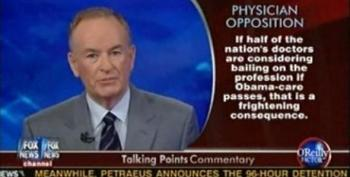 O'Reilly: 46% Of Physicians May Leave Medical Profession