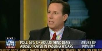 Rick Santorum: The Democrats Cheated By Using Reconciliation To Pass The Health Care Bill