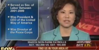Fox Business Channel Doesn't Disclose That Elaine Chao Is Married To Mitch McConnell