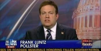 Hannity Lets Frank Luntz Rolls Out His New Talking Point For Republicans: 'Checkbook Tax'