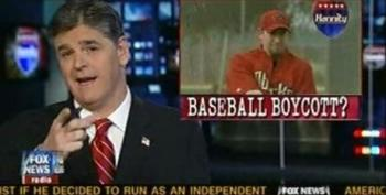 Here's A Reason To Support Amato's Arizona Baseball Protest... Sean Hannity Hates It
