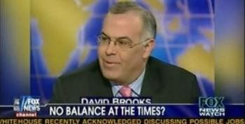 Following Limbaugh's Lead, Fox News Watch Panel Questions Whether David Brooks Is Actually A Conservative