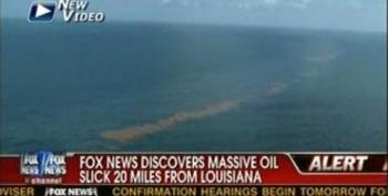 Massive Oil Slick Headed For Grand Isle, LA, Gov. Barbour Fundraising In D.C. As Oil Hits MS