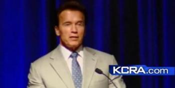 Schwarzenegger Mocks Rush Limbaugh, Mel Gibson