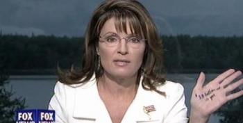 Palin Writes Tax Cut Notes On Hand For Fox Interview