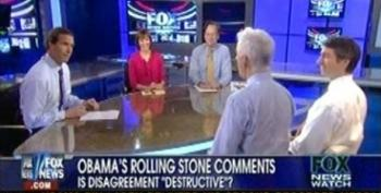 Fox News Watch Panel Whines About President Obama's Criticism Of Fox In Rolling Stone